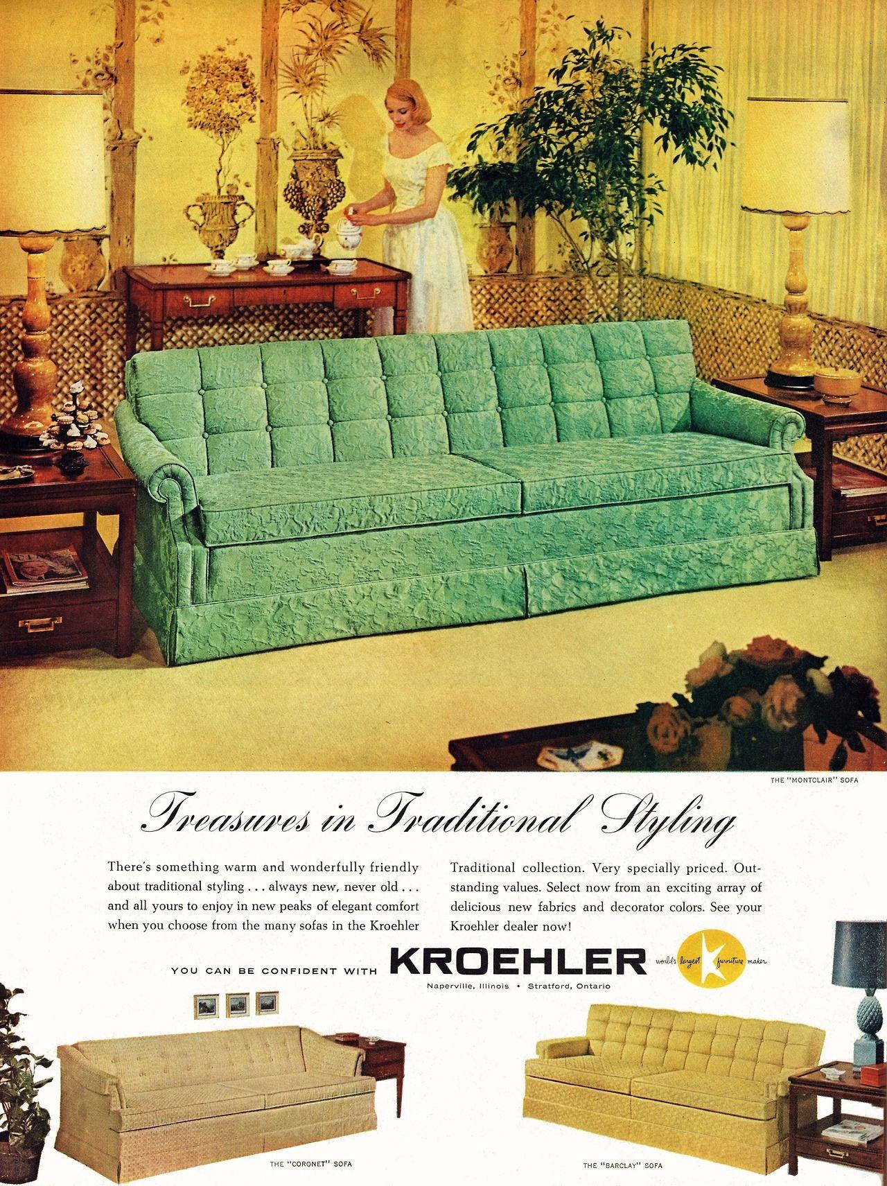 Remarkably Retro Kroehler Furniture 1959 Kroehler Furniture