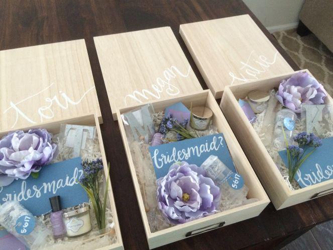 Wedding Gift For Bridesmaids: DIY Bridesmaid Boxes