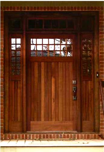 21 Light Craftsman Clark Hall Doors Charlotte Nc Craftsman Wood