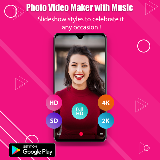 Photo Video Maker With Music In 2020 Video Maker With Music Video Maker Movie App