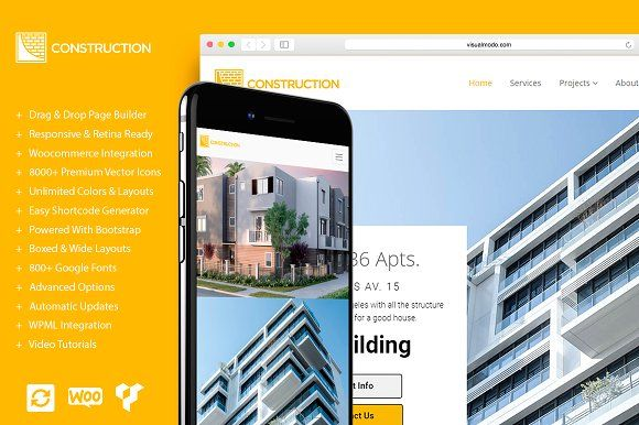 Construction - Building WP Theme by Visualmodo on @creativemarket