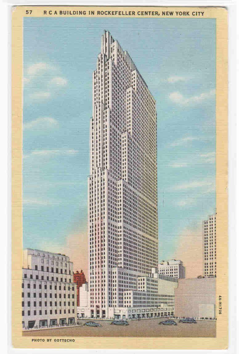 Rca Building Rockefeller Center New York City Postcard 5 00 Via Etsy City Postcard New York City Ny New York City Buildings