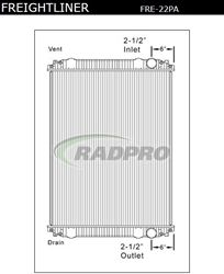 Freightliner Radiator, FR47, 05-20514-001, 0519870016, 0520514001, 1003485, 19870016, 2001-1711, 20011711, 226389, 239138, 239285, 2400143, 3698001, 376761541, 42002406, 43059, 437582S, 437601, 4401-1715, 44011715, 8000-22ST, 800022ST, 8022, 99608, A05-19870-002, A05-19870-003, A05-19870-011, A05-19870-013, A05-19870