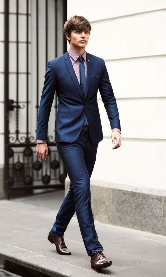 99367838a5 look certo terno camisa micro estampa gravata Sapato Social Masculino Marrom
