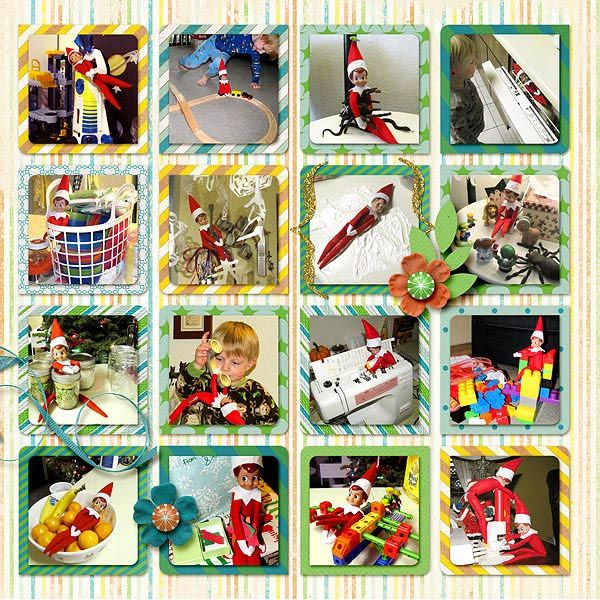 cute layout for elf on the shelf