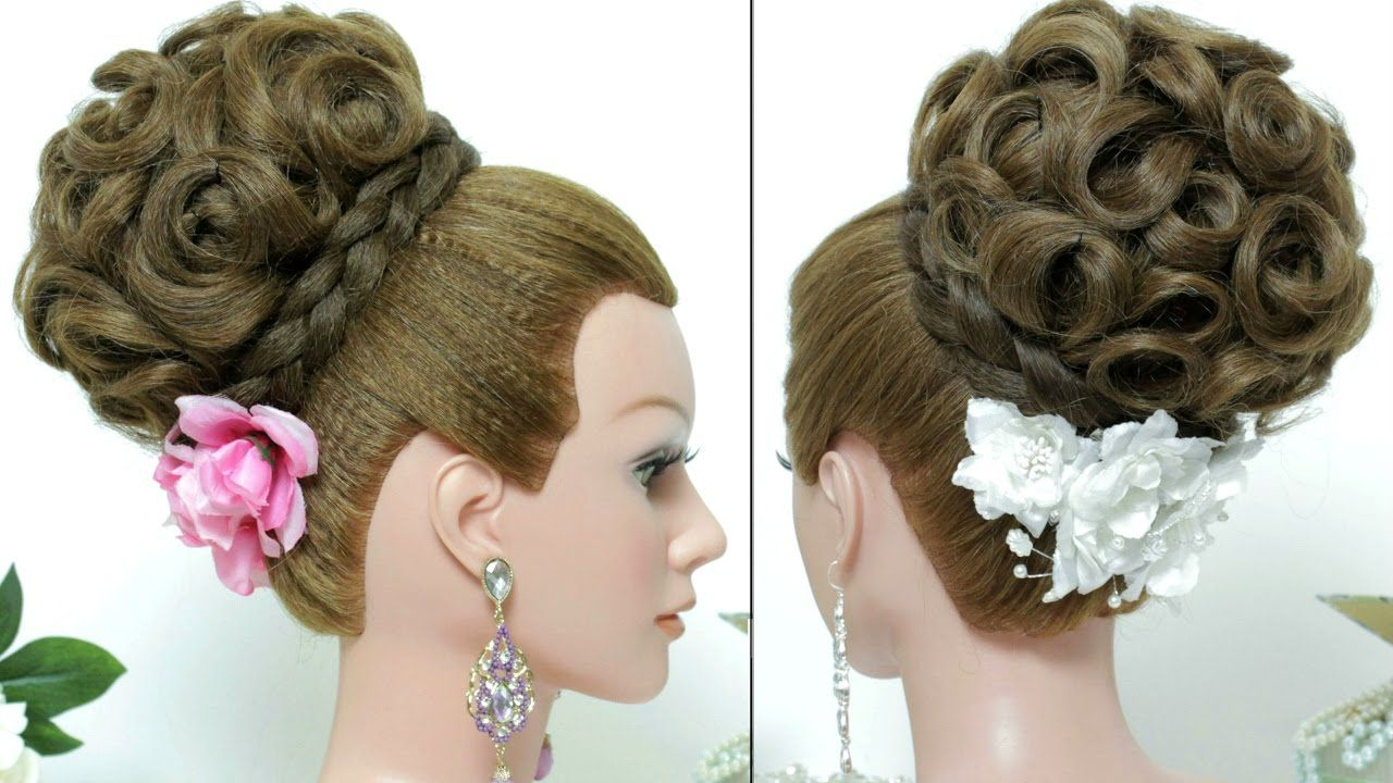 bridal hairstyle. updo for long hair tutorial | cabelos