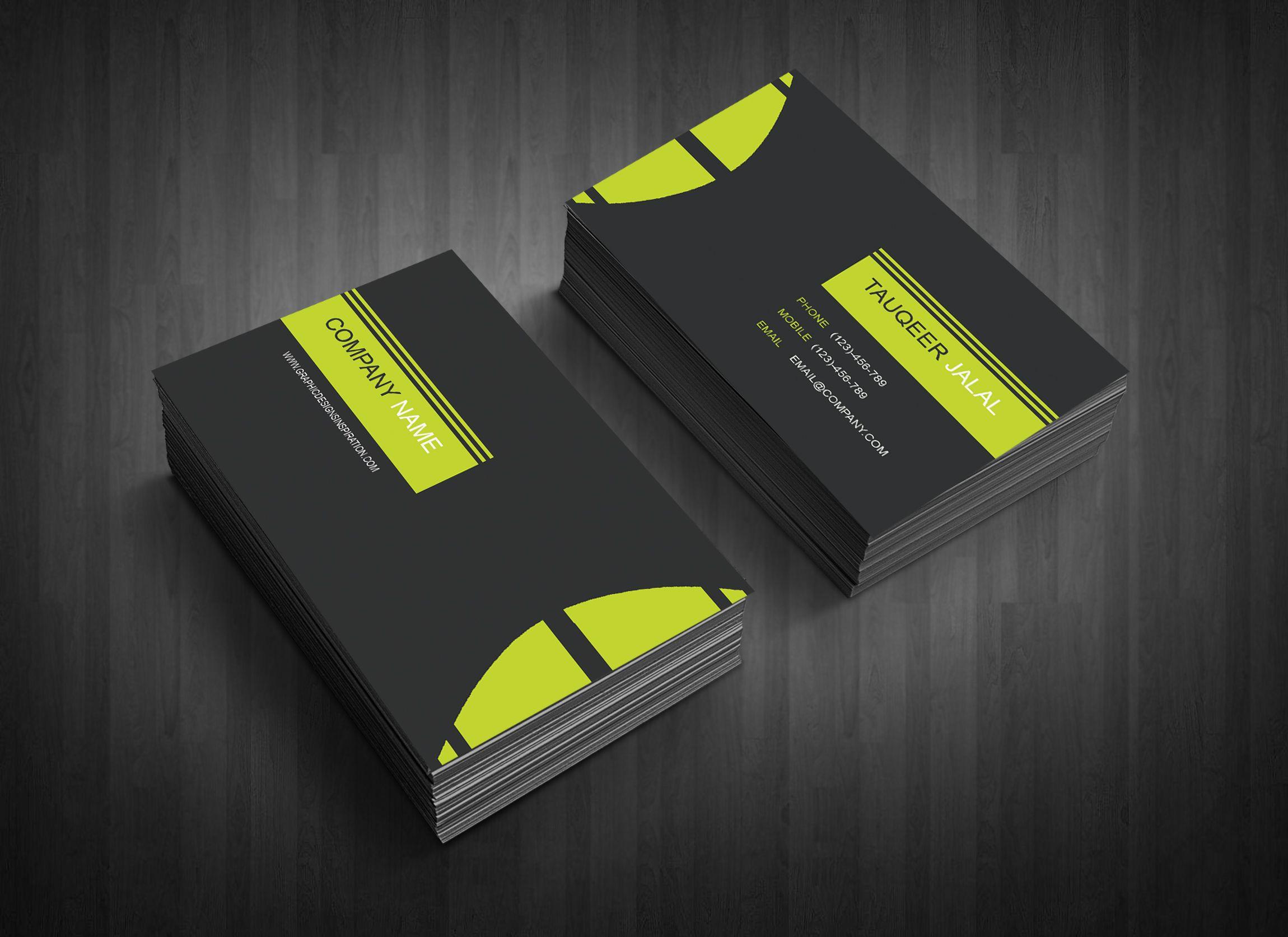 Bunte Doppelseitige Visitenkarten Microsoft Publisher Mit
