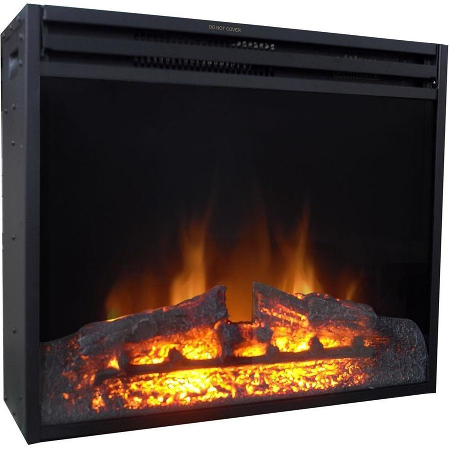 Cambridge 27 8 In W Black Fan Forced Electric Fireplace Lowes Com Electric Fireplace Insert Electric Fireplace Fireplace Inserts
