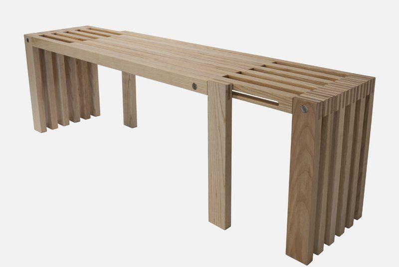 Medium Minimalist Bench Exemplified In Adjustable Double Seat Construction Gallery