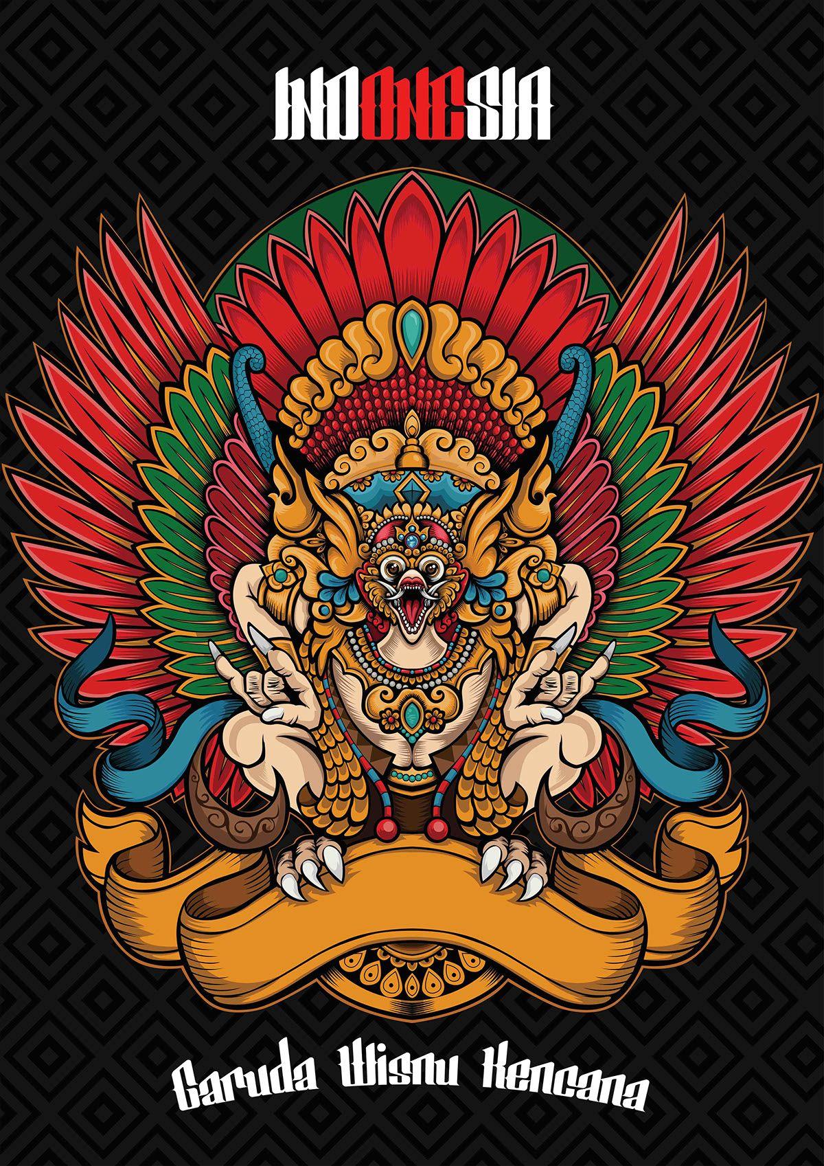 Garuda on Behance Seni tradisional, Seni surealis, Seni