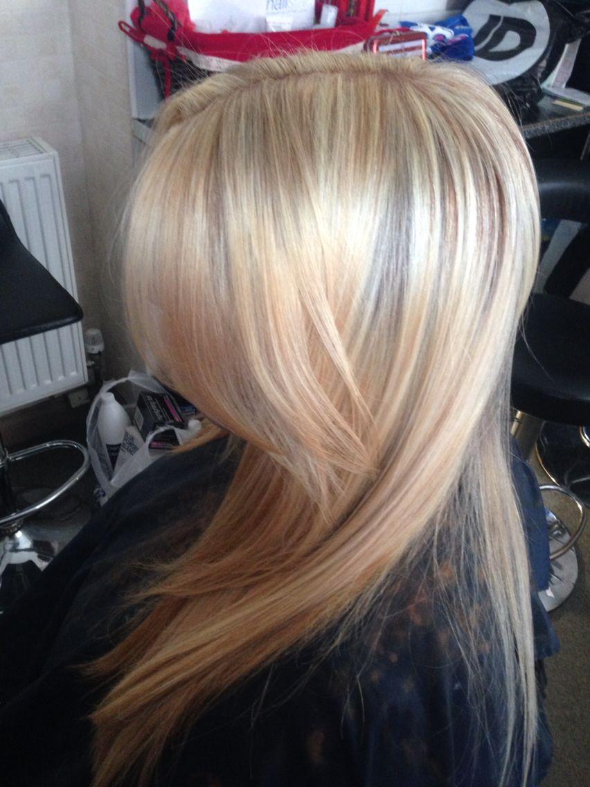 Honey Blonde Platinum Blonde And Natural Ginger Highlights
