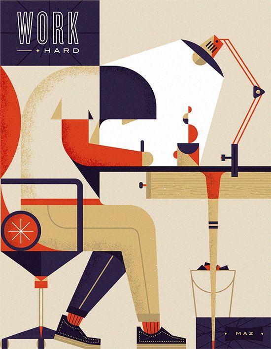 Illustrations by Martín Azambuja | Inspiration Grid | Design Inspiration
