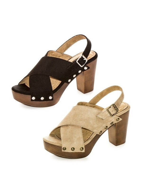 Sandalias de tacón mujer símil ante con abalorios cámel 36 QXG3R4ul9