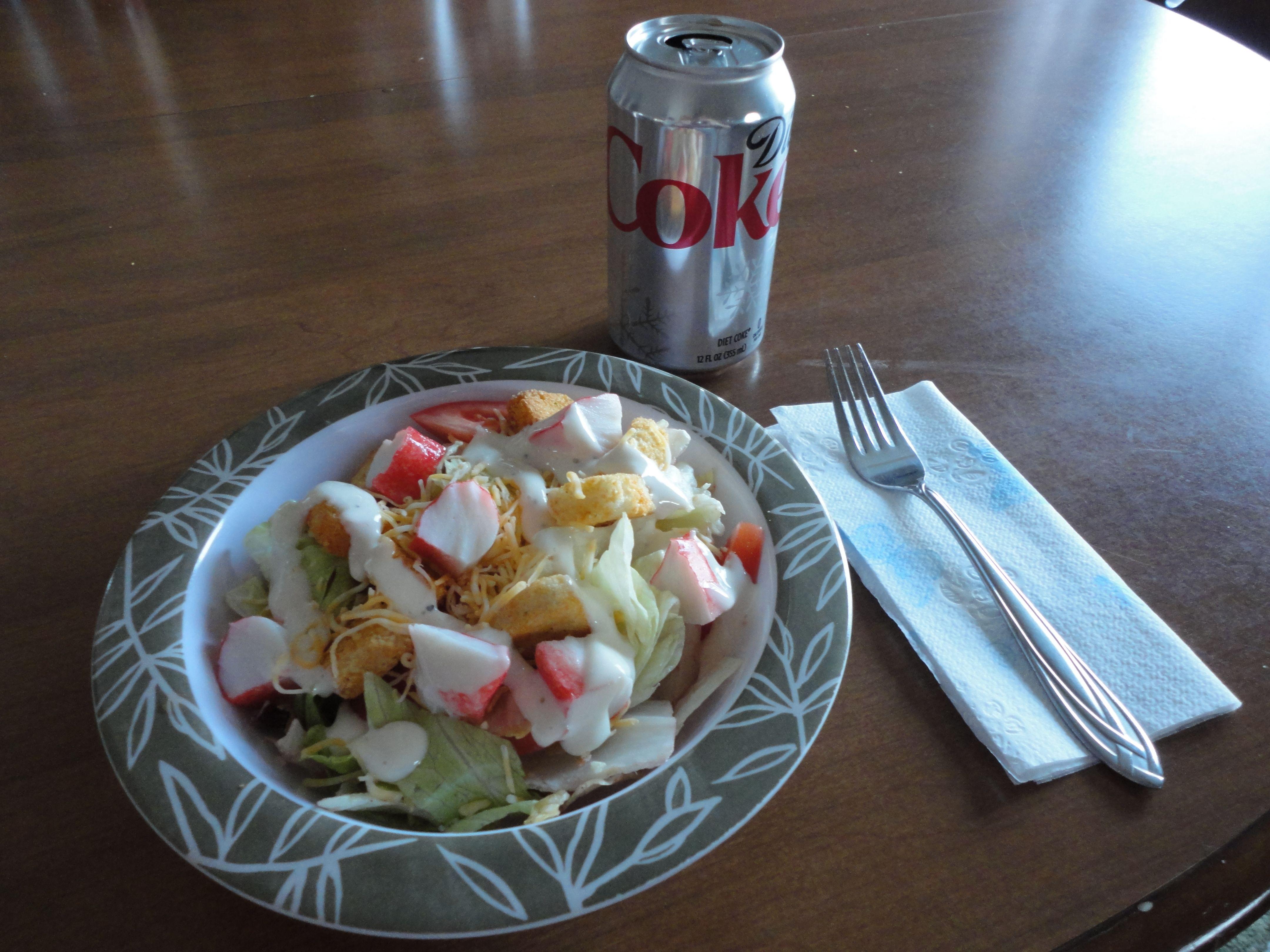 Crab Ranch Salad With Diet Coke Diet Salad Diet Coke