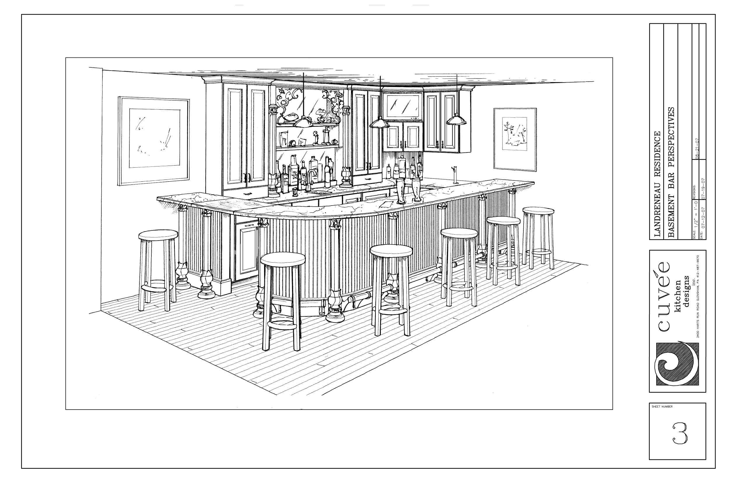 dimensions of basement bar | Architectural and Interior Design