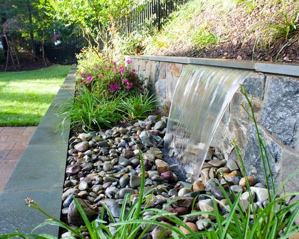 Nice Decorative Arlington Garden Patio Exterior With Small Water Features Ideas