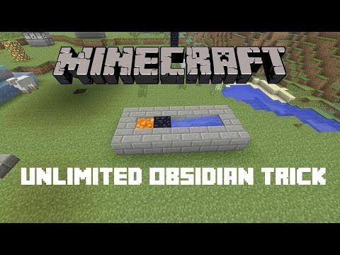 Minecraft: Easy Infinite Obsidian Farm (1 Lava bucket
