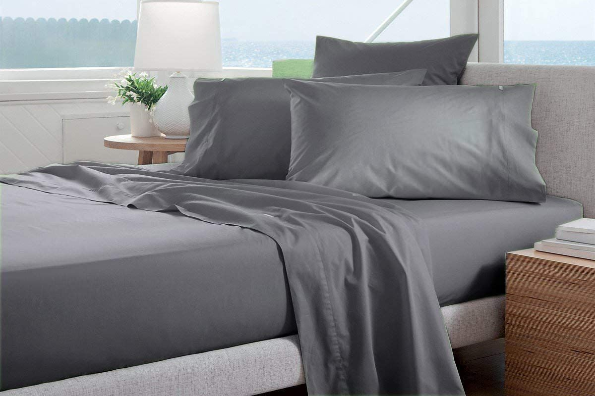 Usa Bedding Heavy Fabric Bed Sheets 1200 Thread Count Egyptian Cotton 4 Pieces Sheet Set Fits 13 15 Inch Deep Pocket Solid Bed Sheets Fabric Bed Usa Bedding