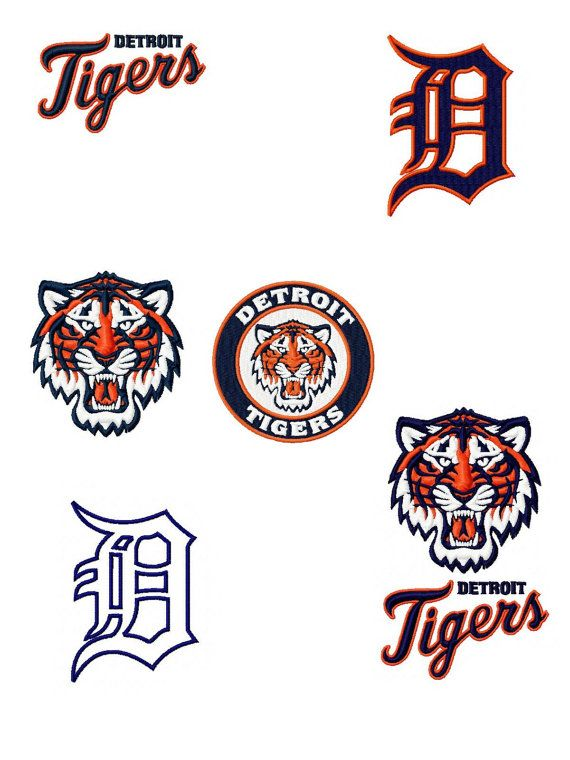 Detroit Tigers Logos Package Machine Embroidery by emoembroidery ...