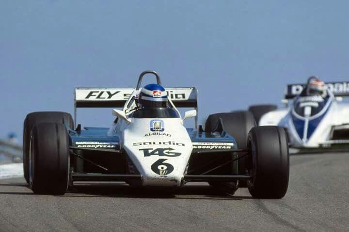 El futuro campeón destronando a  Piquet.