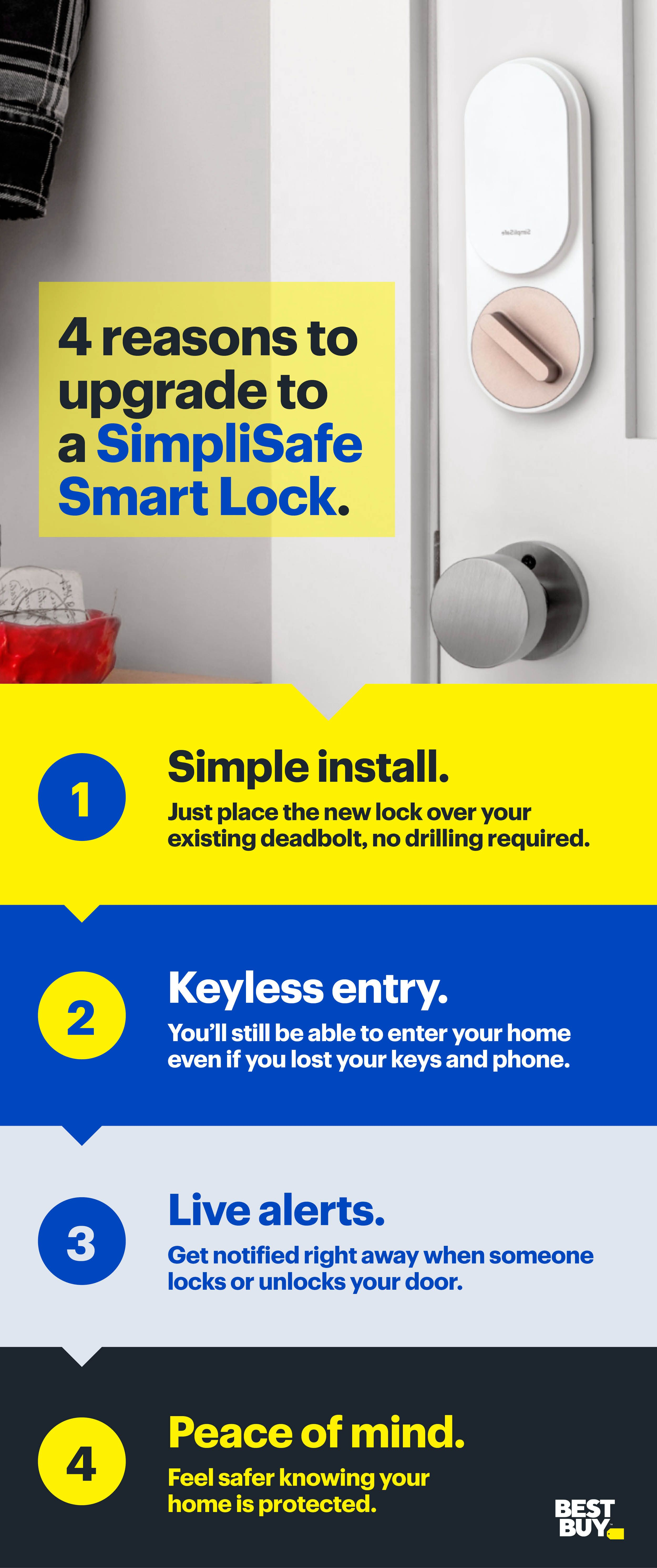 The Simplisafe Smart Lock Is A Quick And Easy Way To Help Make Your Home Security Smarter Home Security Tips Simplisafe Smart Lock