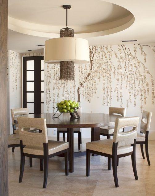 Vinilos decorativos para las paredes del salón | Decoracion | Dining ...