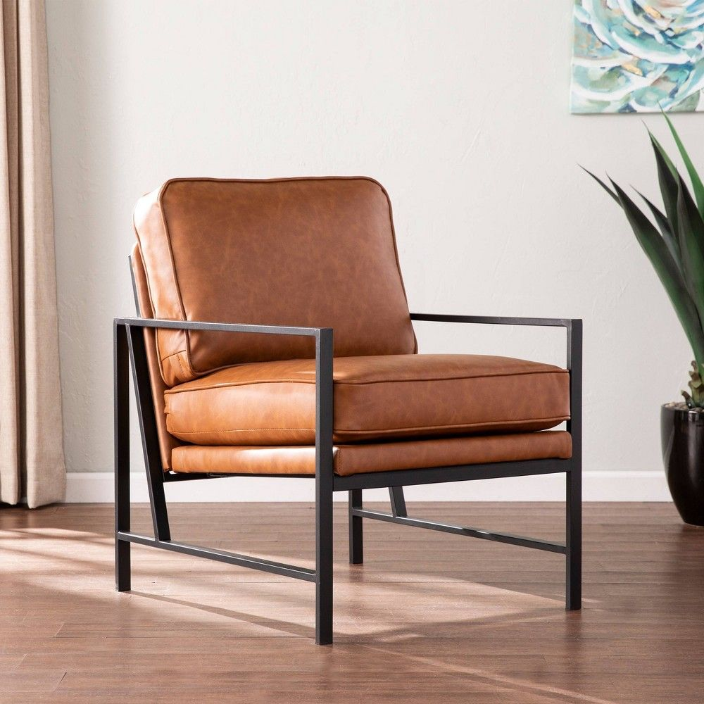 Upholstered Accent Chairs, Black Leather Accent Chairs For Living Room