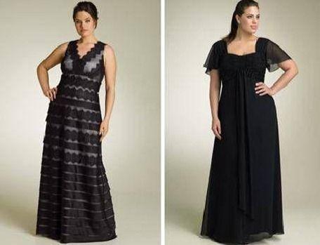 Modelos de vestidos de fiesta tallas extras