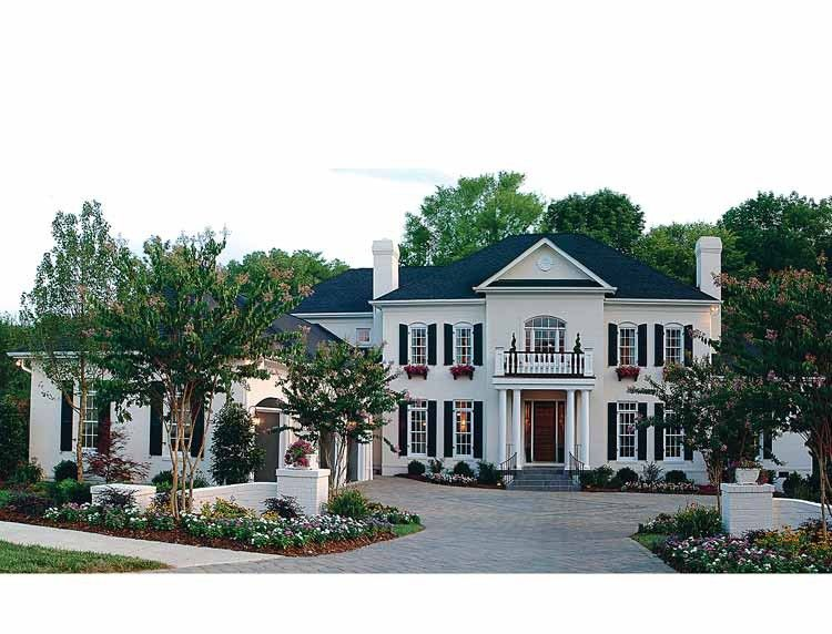 Colonial Style House Plan 5 Beds 5 5 Baths 5432 Sq Ft Plan 453