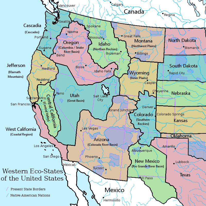 The western US states if watersheds and ecosystems were ...