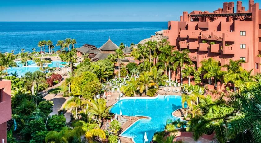 Sheraton La Caleta Resort Spa Adeje Located In Costa Adeje In Southern Tenerife This Luxurious Hotel Is Surrounded By Tropical Ga Tenerife Resort Spa Resort