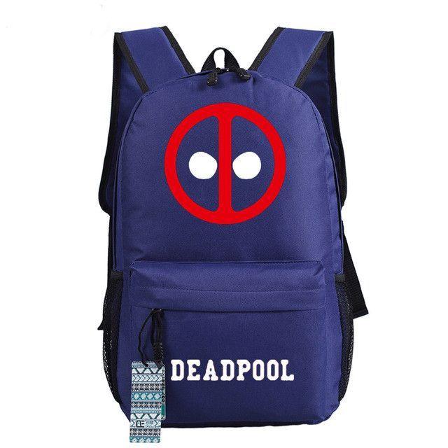 2016 New Deadpool Backpack Marvel Comics Superheros Shoulder School Bag For  Teenagers Canvas Luminous Backpack Travel Rucksack 962204ceef9ce