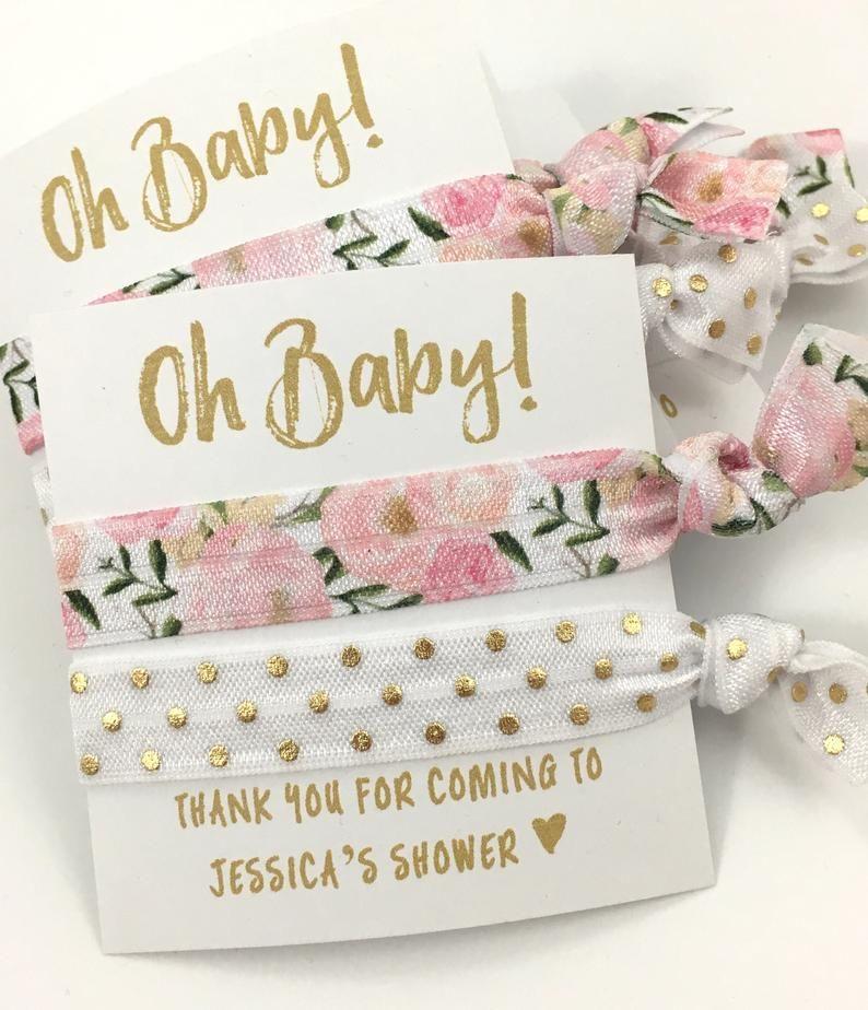 Custom Floral Baby Shower Favors Baby Girl Shower Favors