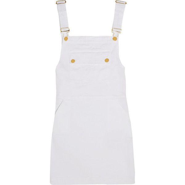 fcb8ae808d0 Frame Denim Le Apron stretch-denim mini dress ( 74) ❤ liked on Polyvore  featuring dresses