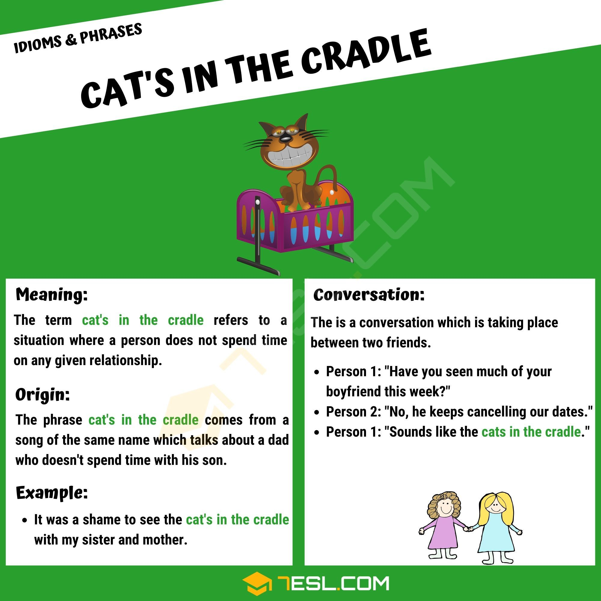 Cat's In The Cradle What Does This Interesting Idiomatic