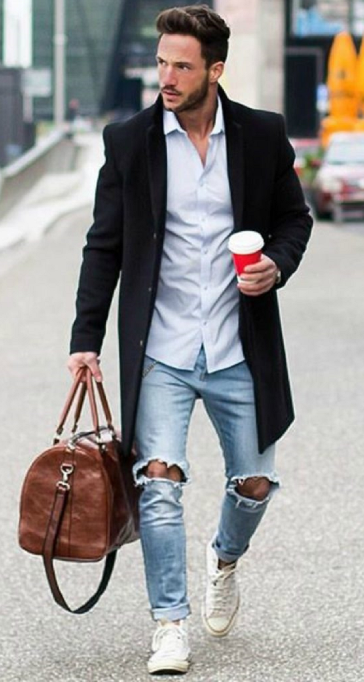 white stylish trainers