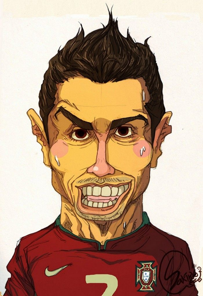 Cartoons Famous Football Players Photo Vide Soccer Players Football Illustration Caricature