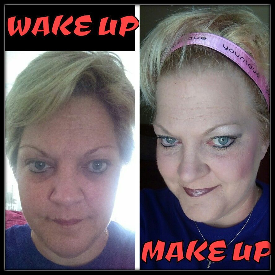 My Wake Up to My Make Up. Younique Make Up Products are