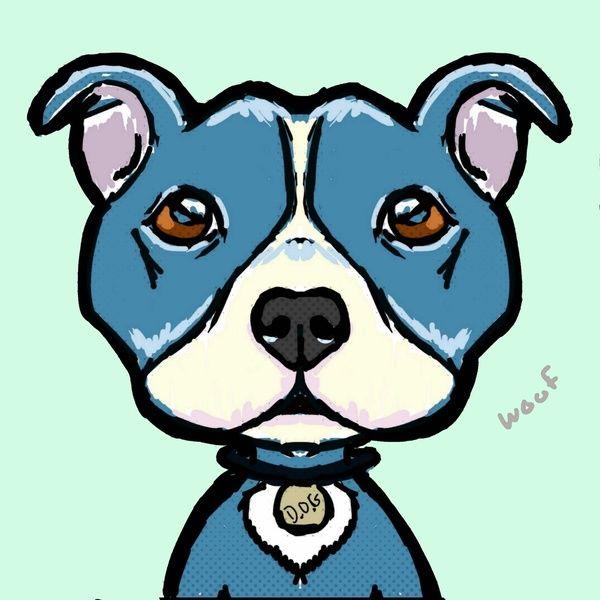 Cartoon Pit bull stock illustration. Illustration of ...