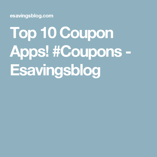 Top 10 Coupon Apps! #Coupons | Coupon apps, App, Coupons on App That Finds Promo Codes id=93453