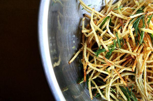 Fries with Lemon Salt & Rosemary | alexandra's kitchen