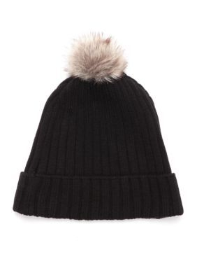 Crown & Ivy™ Solid Knit Hat - Black - One Size