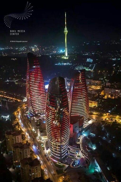 85d6f974c4f067dc6f520d8ab0501079 Jpg 511 768 Pixels Baku City Night Skyline What A Beautiful World
