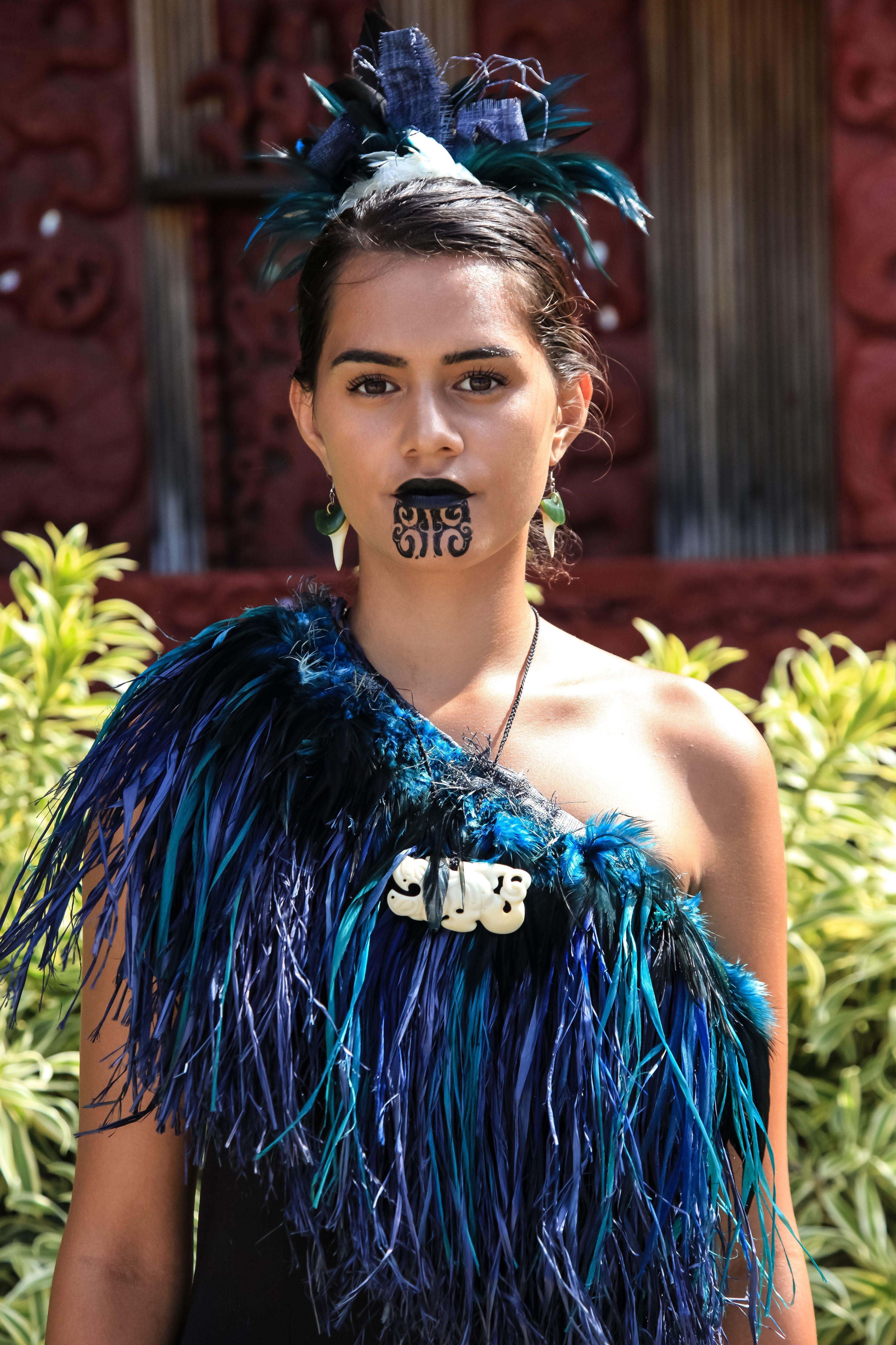 Women In Maori Culture: Maori Villager At The Polynesian Cultural Center