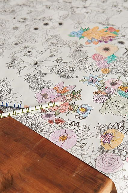 Coloring Paper Table Runner