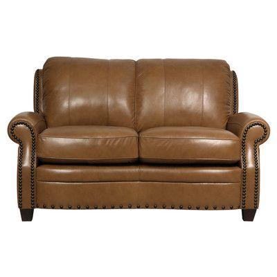 Astonishing Hubbard Leather Loveseat Mccausland Leather Loveseat Ibusinesslaw Wood Chair Design Ideas Ibusinesslaworg