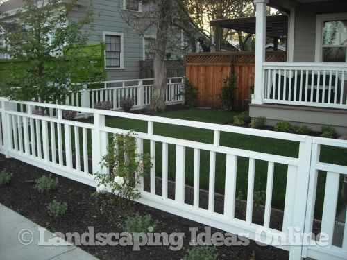 A Cool Alternative To White Picket In The Front Yard