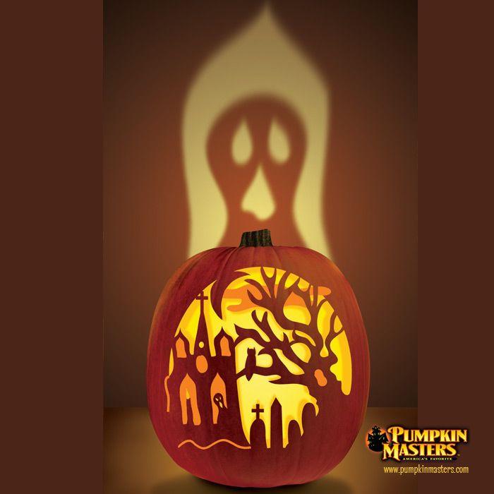 haunted churchyard pumpkin kreatives k rbisse. Black Bedroom Furniture Sets. Home Design Ideas