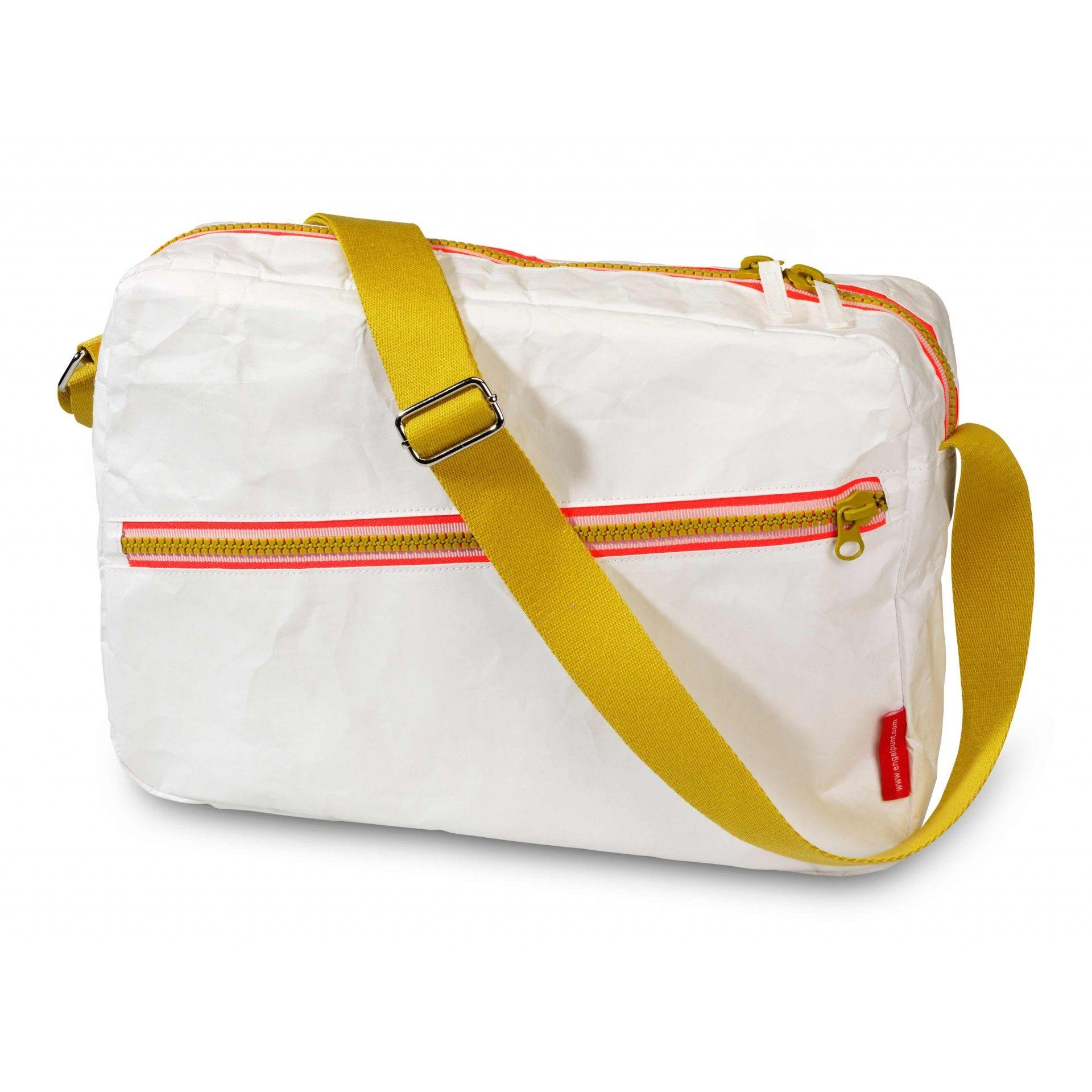 38c1db5a50d Engel Ταχυδρομική Τσάντα - Zipper White | Eco Friendly School Bags ...