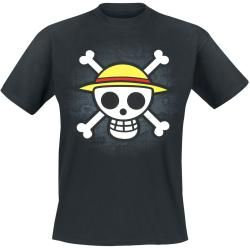 One Piece Skull With Map T-Shirt #shortsleevetee